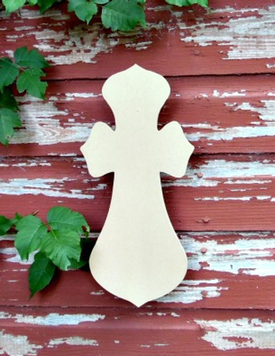 Cross 20 Unfinished Wooden Paintable Wall Hanging Stackable