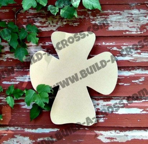 Cross 22 Unfinished Wooden Paintable Wall Hanging Stackable