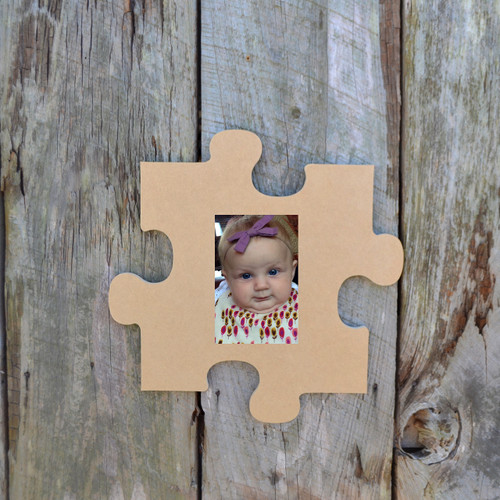 Puzzle Piece Wall Decor Picture Unfinished Frames Paintable Cutout