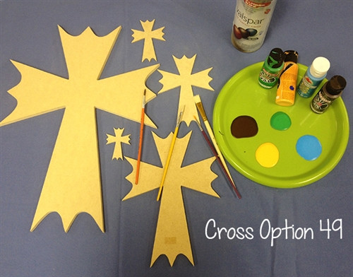 UNFINISHED WOODEN CROSS PAINTABLE WALL HANGING STACKABLE CROSS(49)