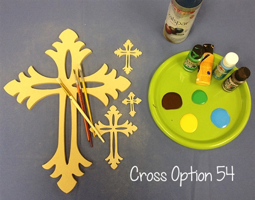 UNFINISHED WOODEN CROSS PAINTABLE WALL HANGING STACKABLE CROSS (54)