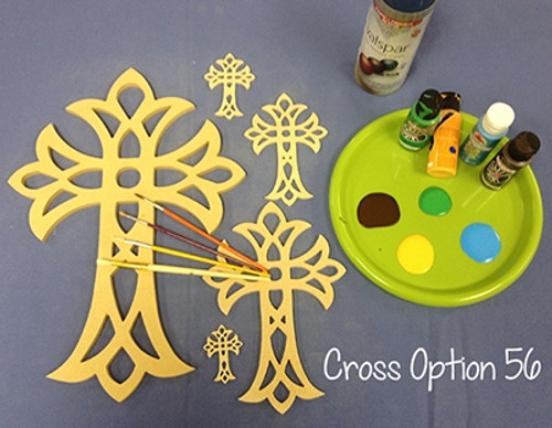 UNFINISHED WOODEN CROSS PAINTABLE STACKABLE CROSS (56)
