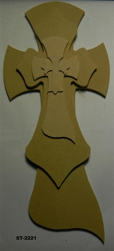 Unfinished Wooden Stacked Kit 21 Layered Crosses 22'' Sets Paintable