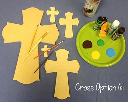 Unfinished Wooden Cross Paintable Wall Hanging Stackable Cross 61