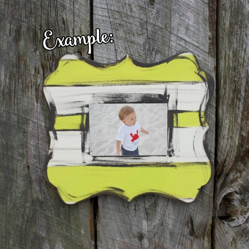 Unfinished Whimsical Picture Frame Wood Paint Wood Art