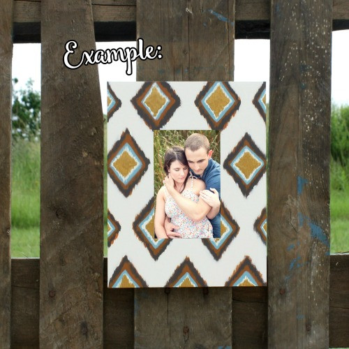 Unfinished Rectangle Picture Frame Wooden Paintable DIY
