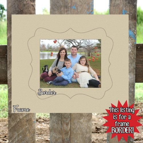 Unfinished Wooden Photo Katie Frame Border