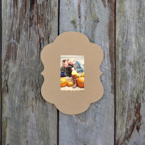 Unfinished Alice Whimsical Picture Frame Wooden Paintable DIY Craft