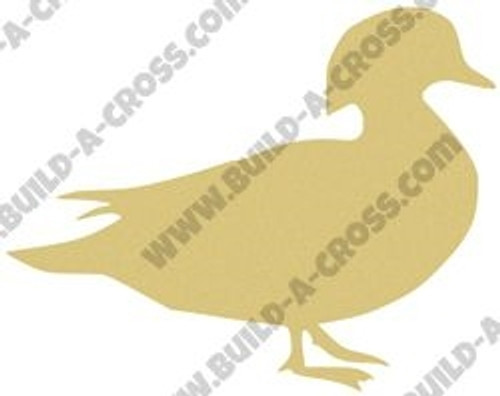 Wood Duck Unfinished Cutout, Wooden Shape, Paintable Wooden MDF