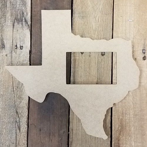 Unfinished Texas State Picture Frame, Wooden Picture Frame, DIY
