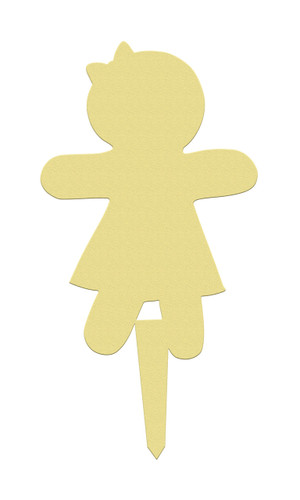 Unfinished outdoor DIY wooden yard art pattern gingerbread girl sign