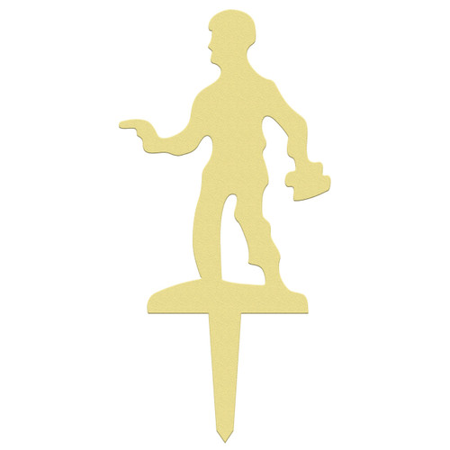 Unfinished outdoor DIY wooden yard art pattern army pistol man sign