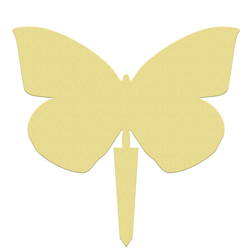 Unfinished outdoor DIY wooden yard art pattern dogface butterfly sign