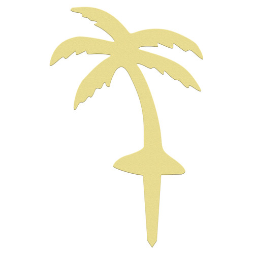 Unfinished outdoor DIY wooden yard art pattern palm tree sign