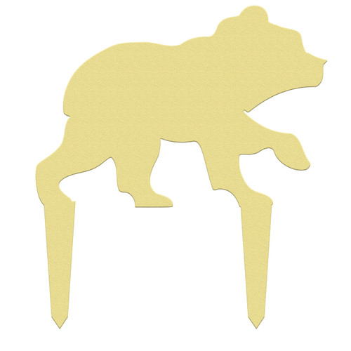 Unfinished outdoor DIY wooden yard art pattern bear cub sign