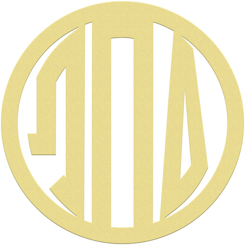 Unfinished Circle GREEK Wooden 3-Alphabet Letter Monogram