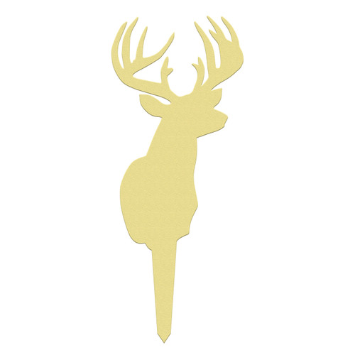 Unfinished outdoor DIY wooden yard art pattern 12 point buck sign