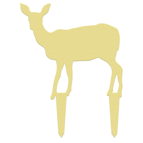Unfinished outdoor DIY wooden yard art pattern deer doe sign