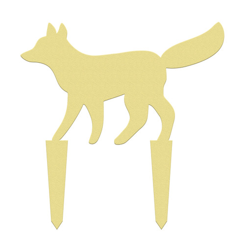 Unfinished outdoor DIY wooden yard art pattern fox sign