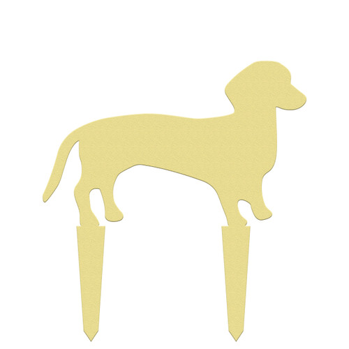 Unfinished outdoor DIY wooden yard art pattern weenie dog sign