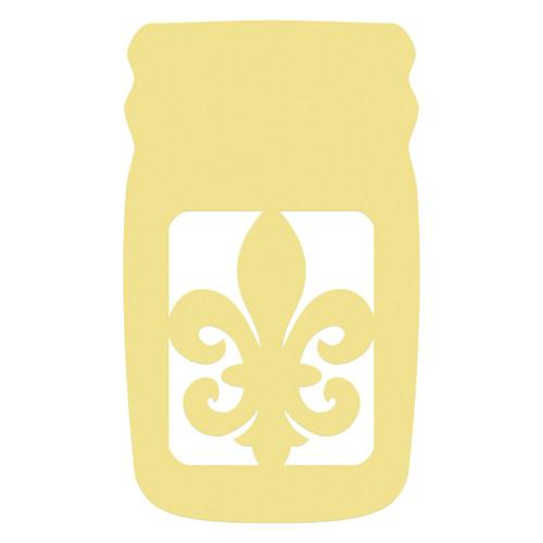 Mason Jar Frame Fancy Fleur De Lis, Letter Frame Wooden Unfinished  DIY Craft