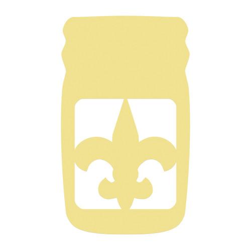 Mason Jar Frame Fleur De Lis, Letter Frame Wooden Unfinished  DIY Craft