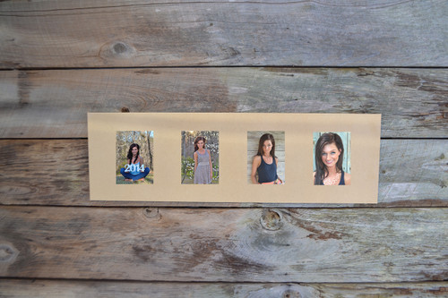 Unfinished 4 Picture Frame Paintable Rectangle Cutout Shape