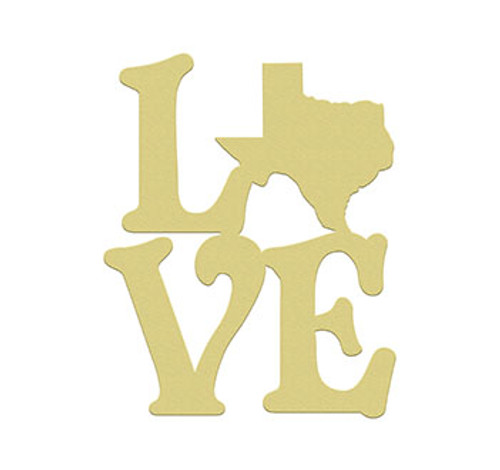 Love State Wall Art Wooden DIY Craft MDF