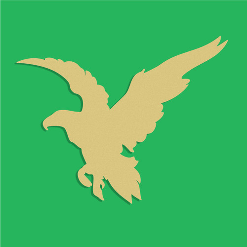 Eagle Unfinished Cutout, Wooden Shape, Paintable Wooden MDF
