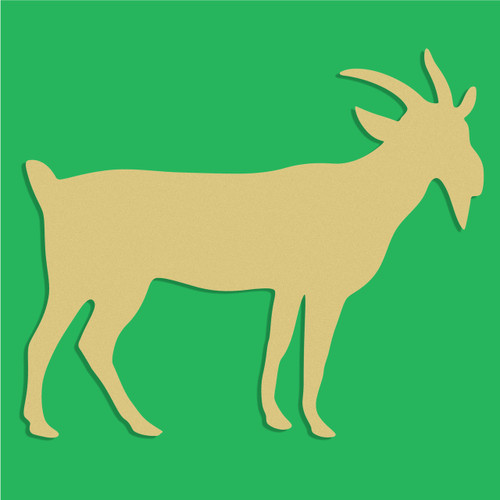 Goat Unfinished Cutout, Wooden Shape, Paintable Wooden MDF