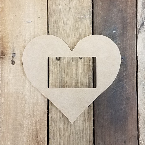 Unfinished Heart Picture Frame Wood Paint Wood Art