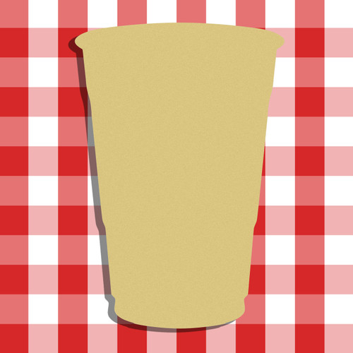 Cup Unfinished Cutout, Wooden Shape, Paintable Wooden MDF