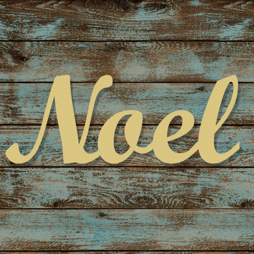 Unfinished Wooden Connected Script Word, Noel, Alphabet Paintable DIY