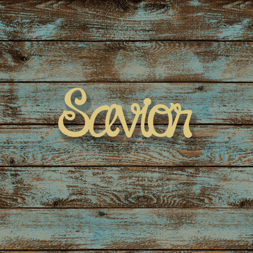 Unfinished Wooden Connected Curly Word, Savior, Alphabet Paintable DIY