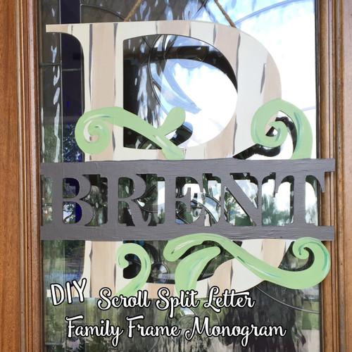 Scroll Split Family Monogram Blog