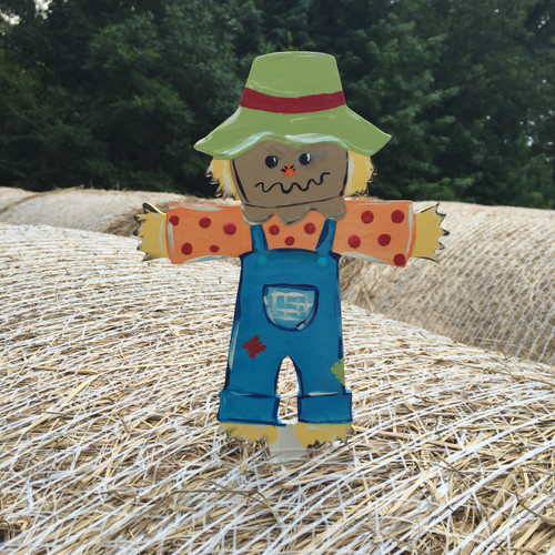 Unfinished outdoor DIY wooden yard art pattern scarecrow sign