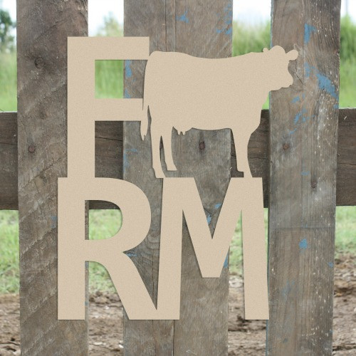 Farm Cow Sign Wall Art Wooden DIY Craft MDF