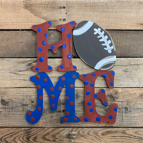 Home Football Sign Wall Art Wooden DIY Craft MDF
