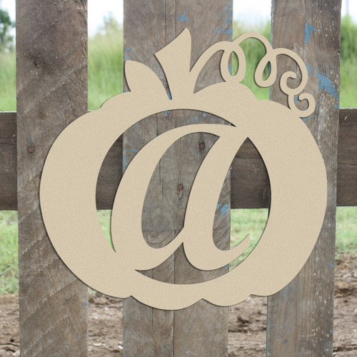 Frame Script Letter, Pumpkin Wooden - Unfinished  DIY Craft