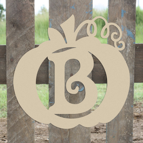 Frame Beltorian Letter, Pumpkin Wooden - Unfinished  DIY Craft