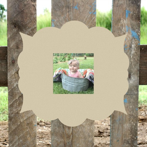 Unfinished Kristin Picture Frame 4 x 4 Wood Paint Wood Art