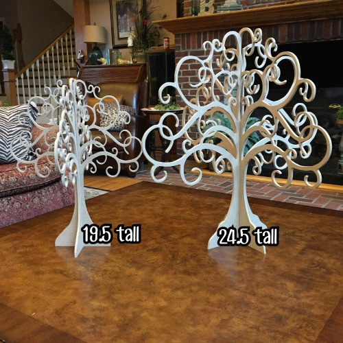 Jewelry Tree , Free Standing , Mantle Decor Unfinished MDF