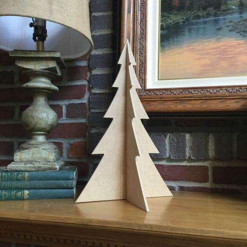 """Free Standing Table Top Christmas Tree (large, 18"""") , Unfinished MDF"""