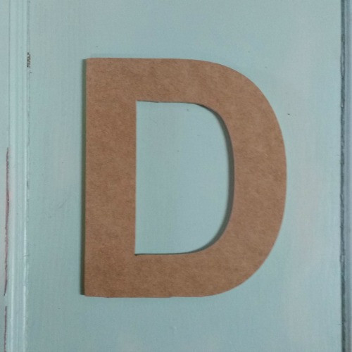Wooden letter cut outs look great with custom wooden words.