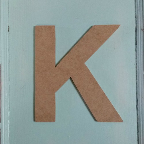 Craft letters and shapes look great with small wooden letters.