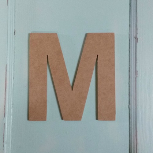 Paintable wooden letters look great as mdf signs.