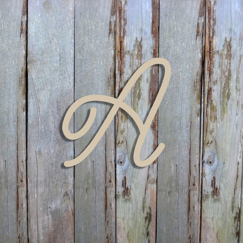 Unfinished Wooden Alphabet Letter Wall Decor (Ariana) DIY Letter Font