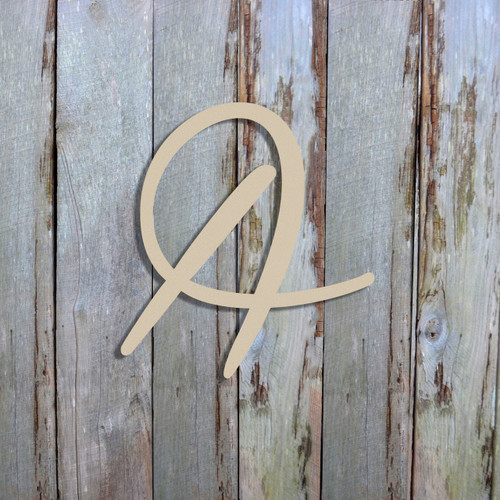 Wall hanging initials are cheap large unfinished wood cutouts.