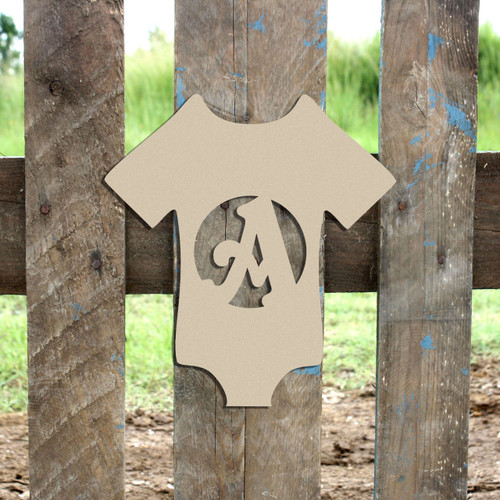 Onsie Monogram Beltorian Letter Wooden - Unfinished  DIY Craft