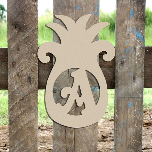 Pineapple Monogram Beltorian Letter Wooden - Unfinished  DIY Craft